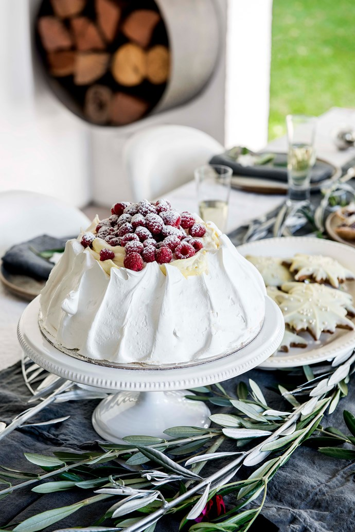 "Pavlova is a Christmas favourite for the family. This one is a shell from [Jocelyn's Provisions](https://jocelynsprovisions.com.au/|target=""_blank""