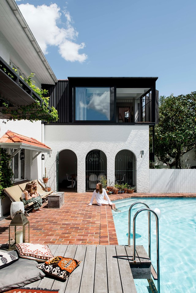 "A Brisbane family have poured heart and soul into their sprawling 1933 [Spanish-style home](https://www.homestolove.com.au/spanish-style-home-with-courtyard-19510|target=""_blank""), retaining as many of its original features as possible and updating it with modern Mediterranean style."