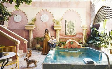 This renovated Moroccan townhouse in Marrakech is the perfect family home