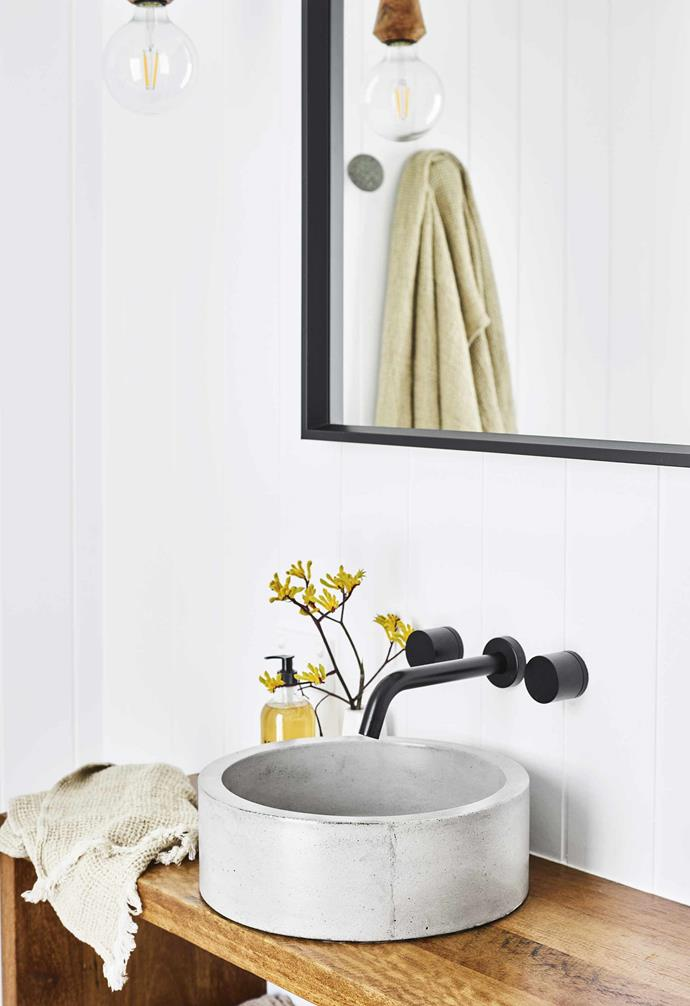 **Bathroom** Despite its compact size, this bathroom packs a lot of functionality into its limited space.
