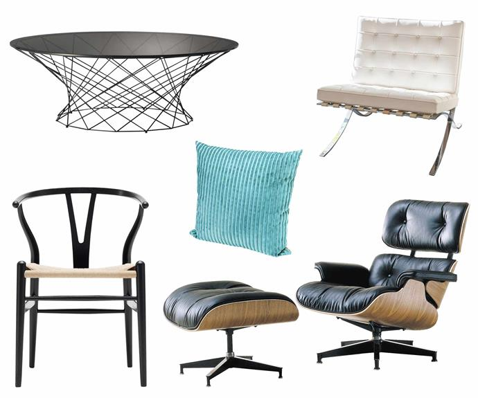 "**Modern marvels** Mix these classic pieces with modern design to give them an exciting new twist. **Get the look** (clockwise left to right) Walter Knoll 'Oota' table, $1730, [Living Edge](https://livingedge.com.au/|target=""_blank""
