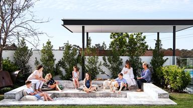 A Perth family's dream home on a sloping corner block