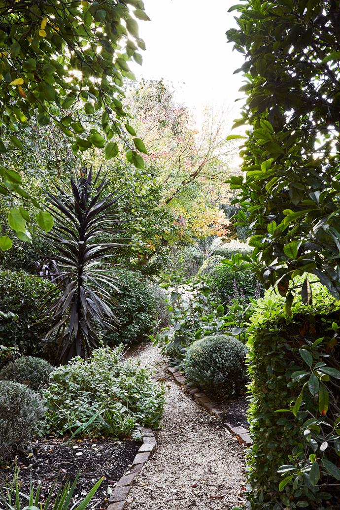 Susie Nugent is a landscaper who has worked her magic on the lush garden.