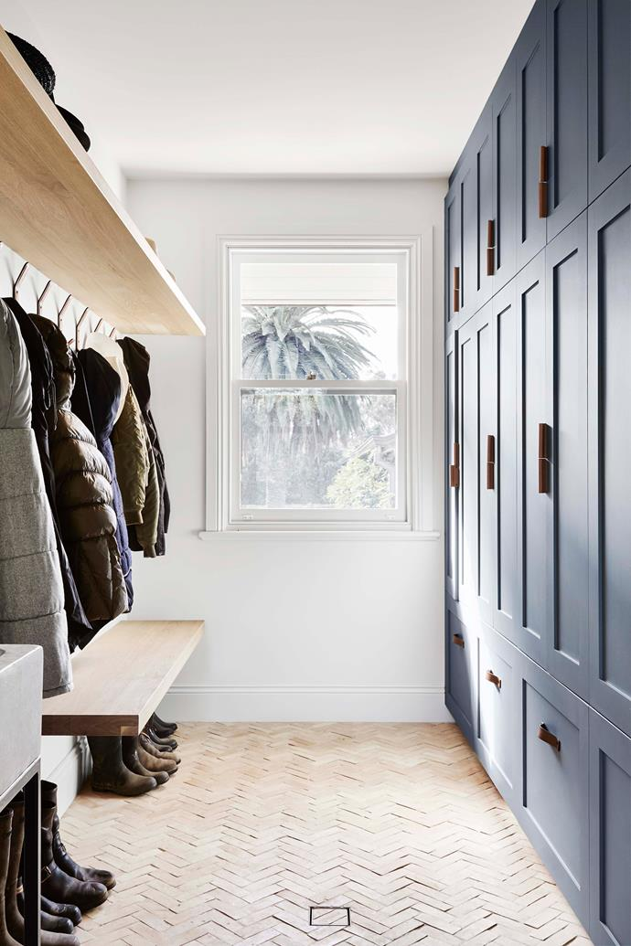 A large scullery and mud room was a priority as a buffer between indoors and out, providing a necessary spot for shedding outerwear.