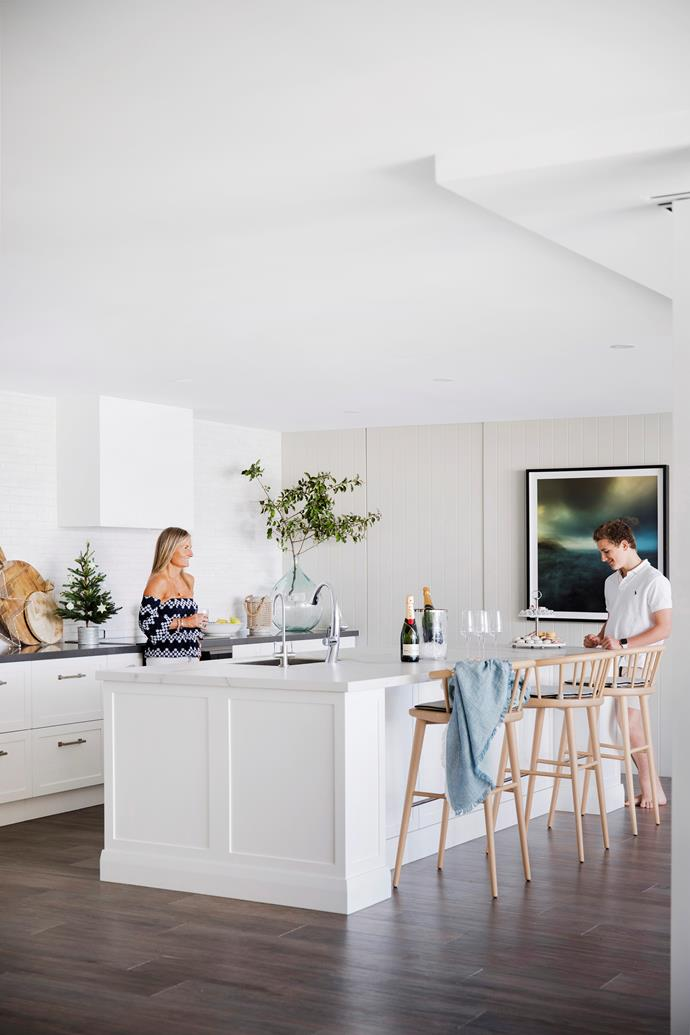 'The light, airy kitchen with waterfront aspect is great to cook and entertain in.'