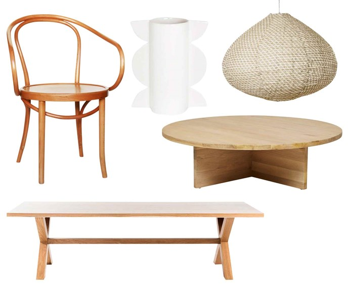 "**Quality of life** Wood's natural beauty and a few design classics successfully crown any interior. **Get the look** (clockwise left to right) 'B9 Le Corbusier' armchair, $370, [Thonet](http://www.thonet.com.au/|target=""_blank""
