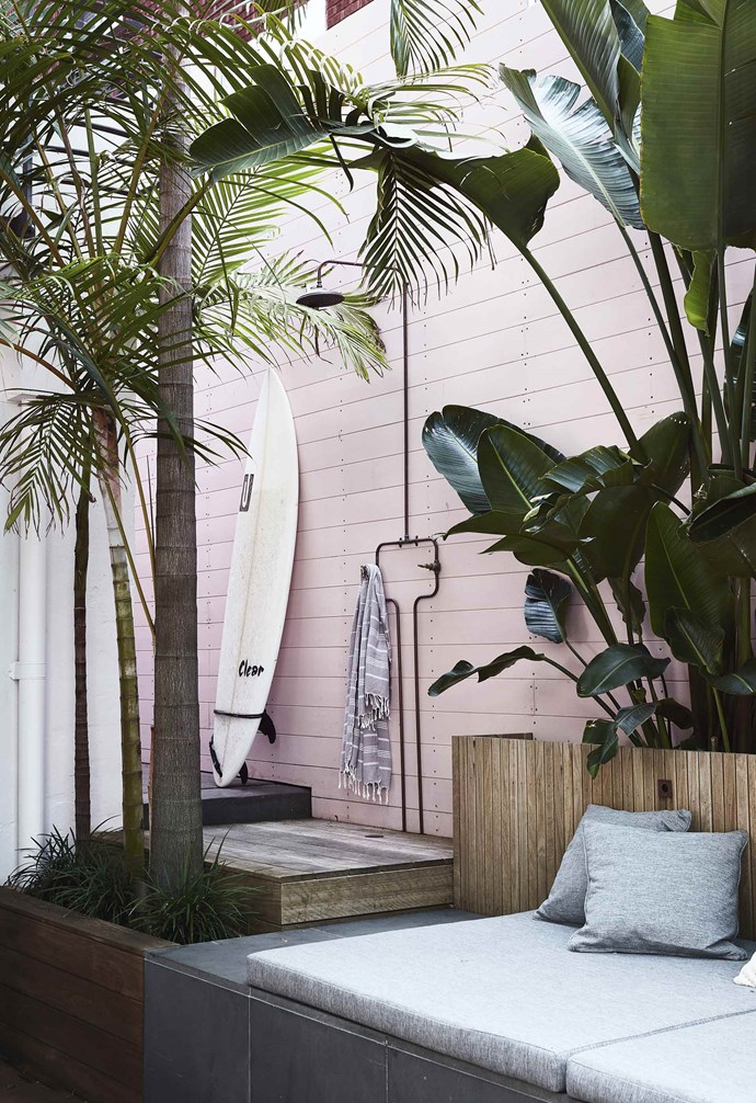 """The pink timber was a shock to the homeowners as they [renovated their Bondi duplex](https://www.homestolove.com.au/duplex-home-renovation-19533