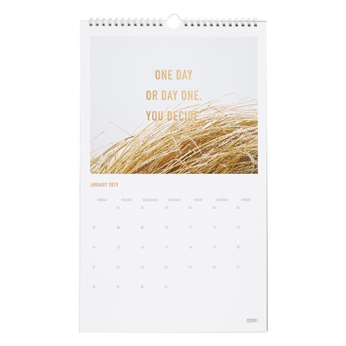"""Keep track of your social life and be inspired daily with the 2019 Wall Calendar: Inspiration, $19.95, from [Kikki.K ](https://fave.co/2Vkj4uR target=""""_blank"""")"""