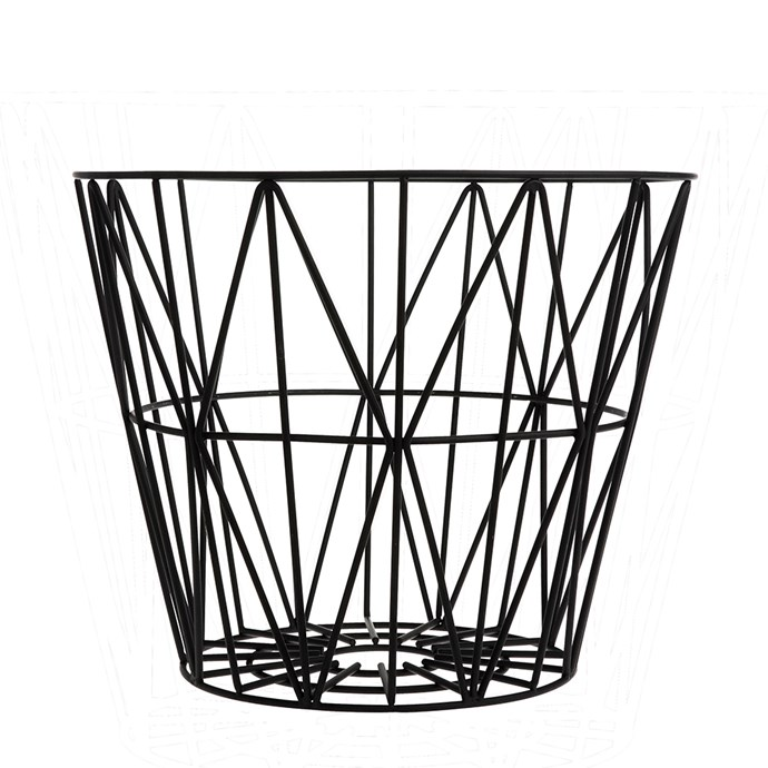 """Small **wire basket**, $72, from [Fern Living](https://fave.co/2AuwjA3