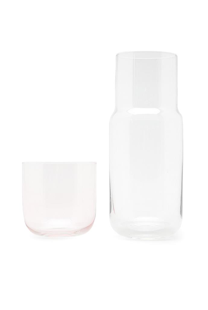"""'Dali' **carafe set**, $39.95, from [Country Road](https://fave.co/2AwGpk2