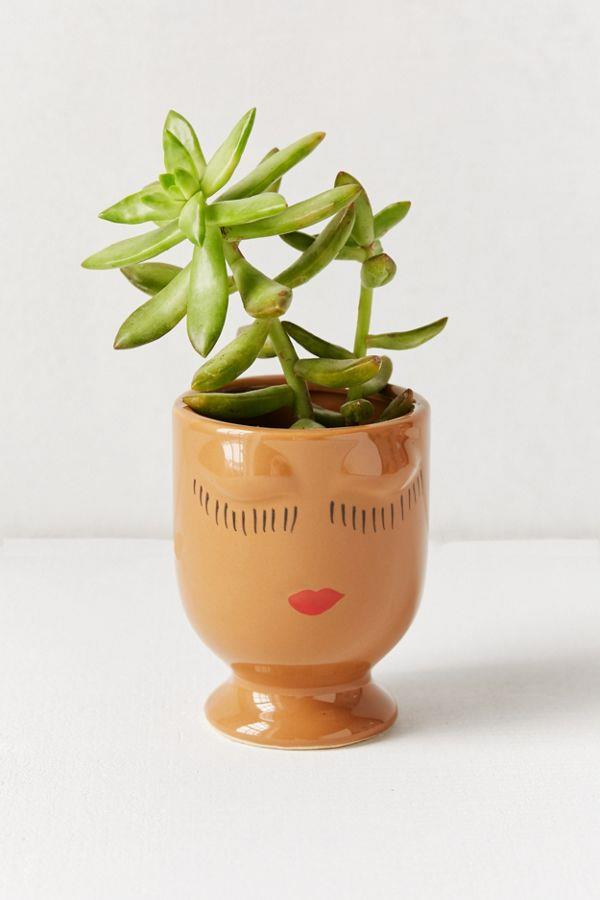 """'Celfie' **planter** in brown, $8, from [Urban Outfitters](https://fave.co/2Au8Z5C