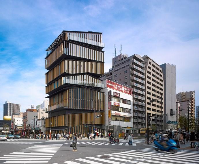 Asakusa Culture and Tourism Centre, Tokyo, Japan. Photograph by Edmund Sumner.