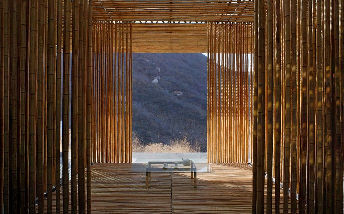 Bamboo Wall house, Commune by Great Wall, China. Photograph by Michael Freeman.