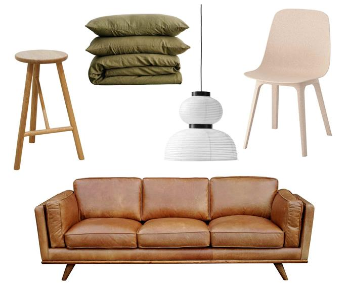 """**Going coastal** Natural fibres and neutral tones echo the greenery of Australia's vast seaside regions. **Get the look** (clockwise left to right) 'WhyWood' oak bar stool, $259, Life Interiors, [Life Interiors](https://www.lifeinteriors.com.au/
