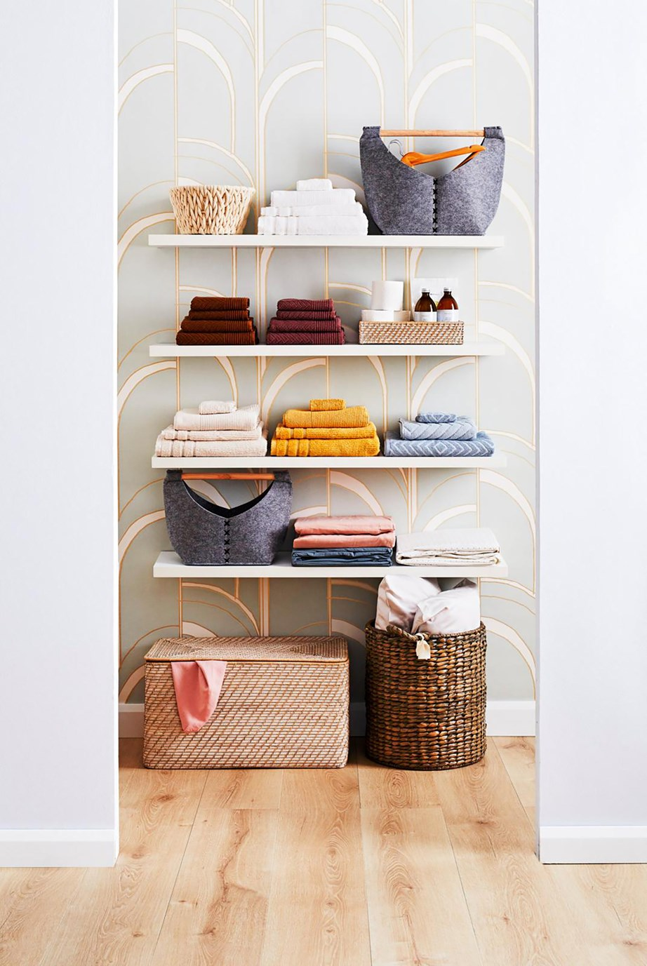 "Follow these easy organisation tips to [keep your linen cupboard neat and tidy >](https://www.homestolove.com.au/linen-cupboard-organisation-tips-9411|target=""_blank"")"