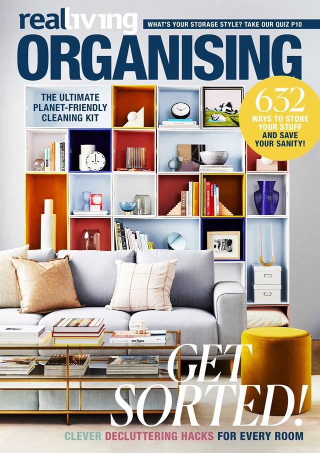 """For more clever decluttering hacks, storage and organisation ideas and inspiration, pick up a copy of real living's *Organising*, $12.50, from your local newsagent or [Magshop](https://www.magshop.com.au/real-living-organising