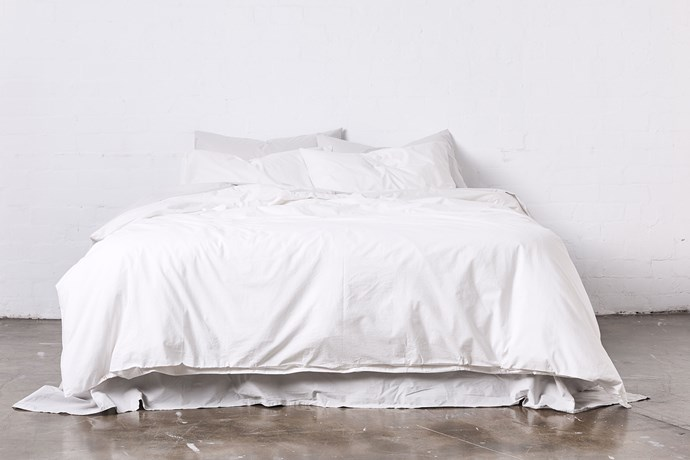 IN BED's Washed Cotton sheets have the relaxed look of linen with the crisp feel of cotton.