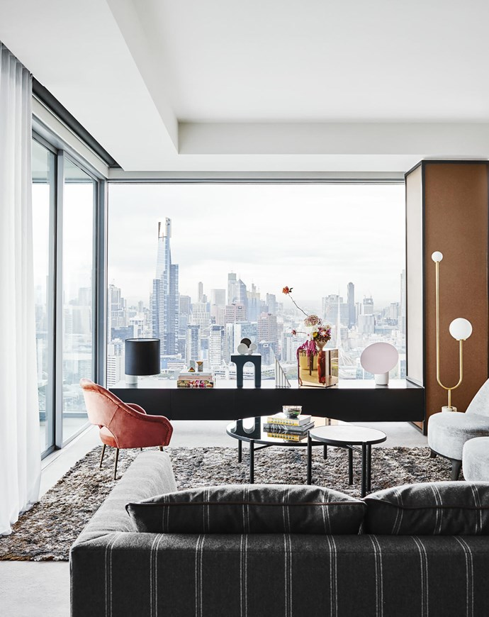 The former masculine ambience in this city apartment has been replaced by a softer sophisticated vibe thanks to designer Kimberley-Jade Bawden. Photograph: Lisa Cohen | Styling: Jack Milenkovic.