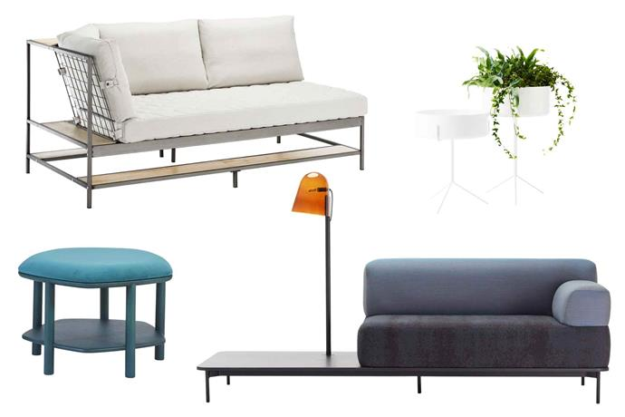 "**Double duty** Go for form and function; these items all have more than one use. Smart designs can include extra storage or multiple functions. **Get the look** (clockwise left to right) 'Ekebol' sofa, $599, [IKEA](https://www.ikea.com/|target=""_blank""