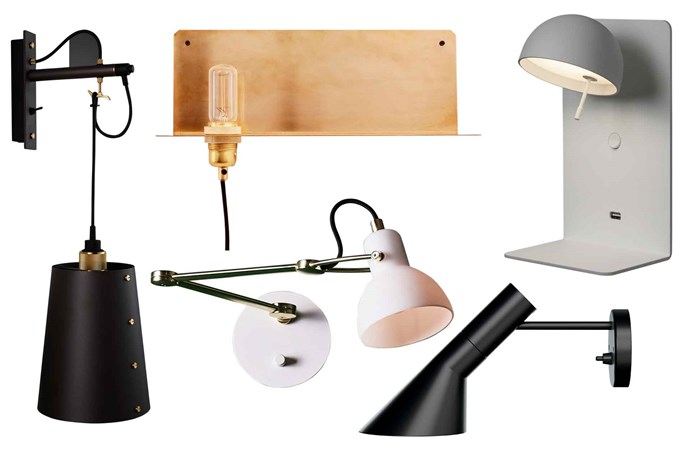 "**Wall lights** Wall-mounted lighting is an easy way to save space and introduce a sculptural feature to any room. **Get the look** (clockwise left to right) Buster + Punch 'Hooked' wall light, $260, [Living Edge](https://livingedge.com.au/|target=""_blank""