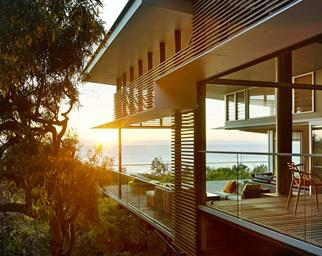 Queensland beach house with protective external eaves
