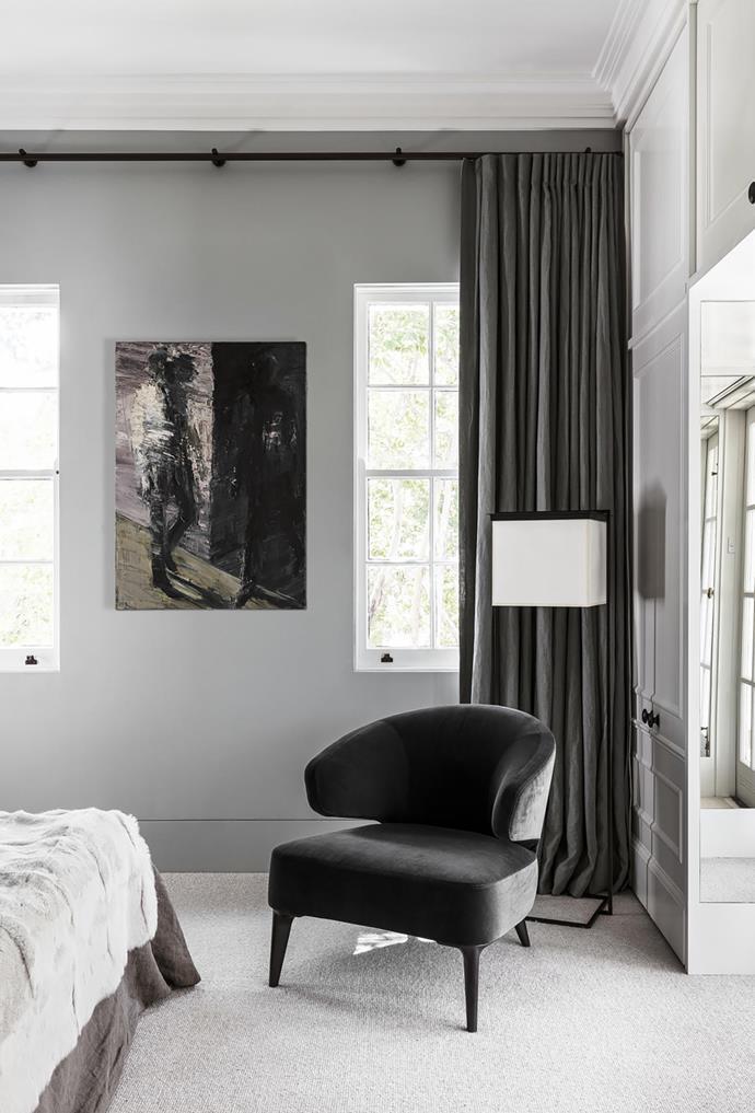 Minotti 'Aston' armchair from De De Ce. Artwork by Euan Macleod.