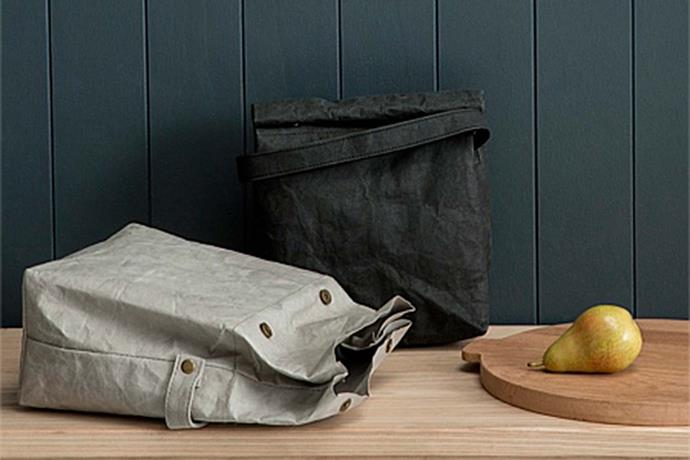 """'Osten' washable paper lunch bag, $29.95, [Country Road](https://www.countryroad.com.au/