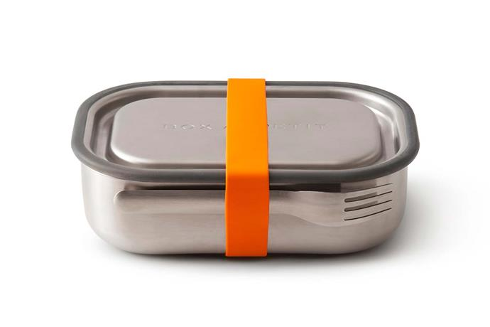 "Black + Blum stainless steel lunch box, $69.95, [Until](http://www.until.com.au/|target=""_blank""