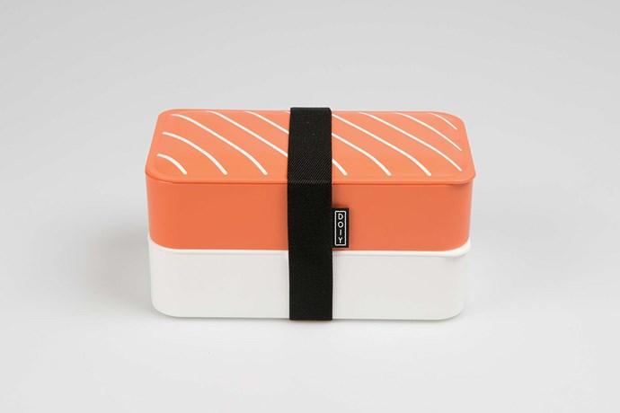 "DOIY 'Nigiri' Bento lunch box, $39.90, [Top 3 by Design](http://top3.com.au/|target=""_blank""|Rel=""nofollow"")."