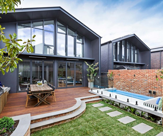 """Dave Franklin designed this stunning backyard and plunge pool for Josh and Elyse on [*The Block*  2017](https://www.homestolove.com.au/the-block-2017-backyards-6184