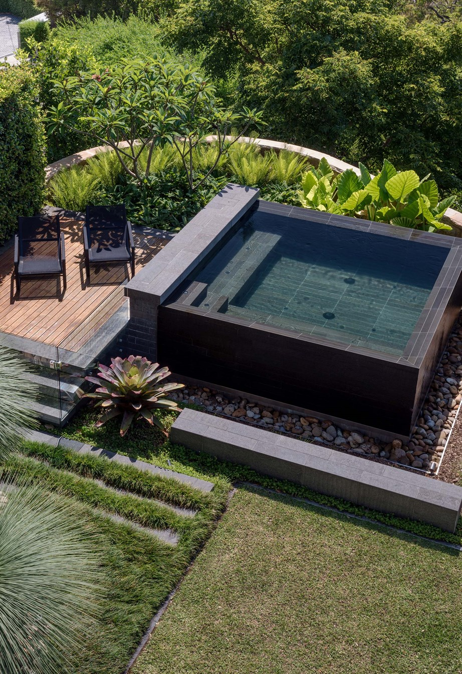 A short on space? A plunge pool can be design for the most compact backyards. *Photo:* Nick Watt / *bauersyndication.com.au*