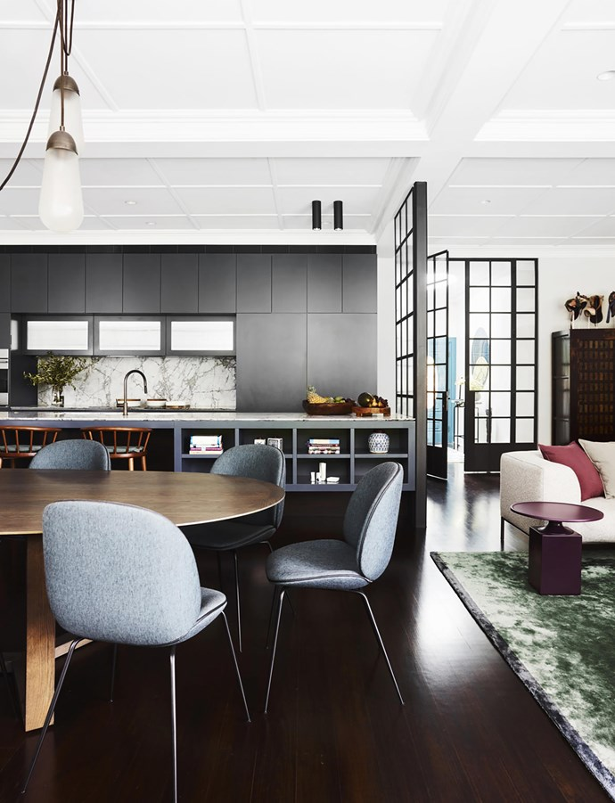 Luigi Roselli Architects and Decus Interiors were enlisted to bring light and create more space to this New-York-style home in Sydney's eastern suburbs. *Photograph*: Anson Smart. From *Belle* August/September 2018.