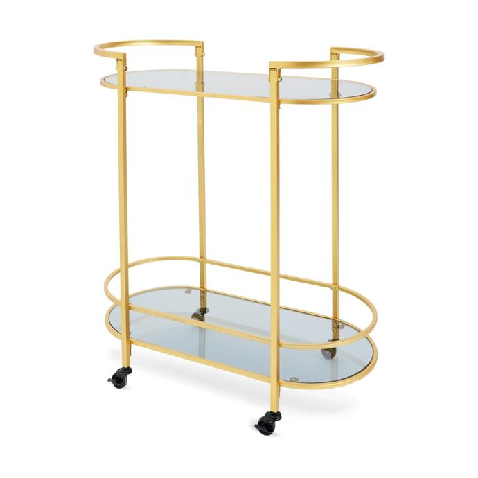 "Timeless [drinks trolley](https://www.kmart.com.au/product/timeless-drinks-trolley/2335315|target=""_blank""