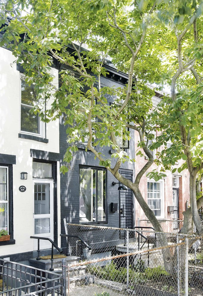 **Exterior** It may look practically unchanged from the front, but the Shahane family's renovated Brooklyn home, painted in demure black, now has an extra two storeys.