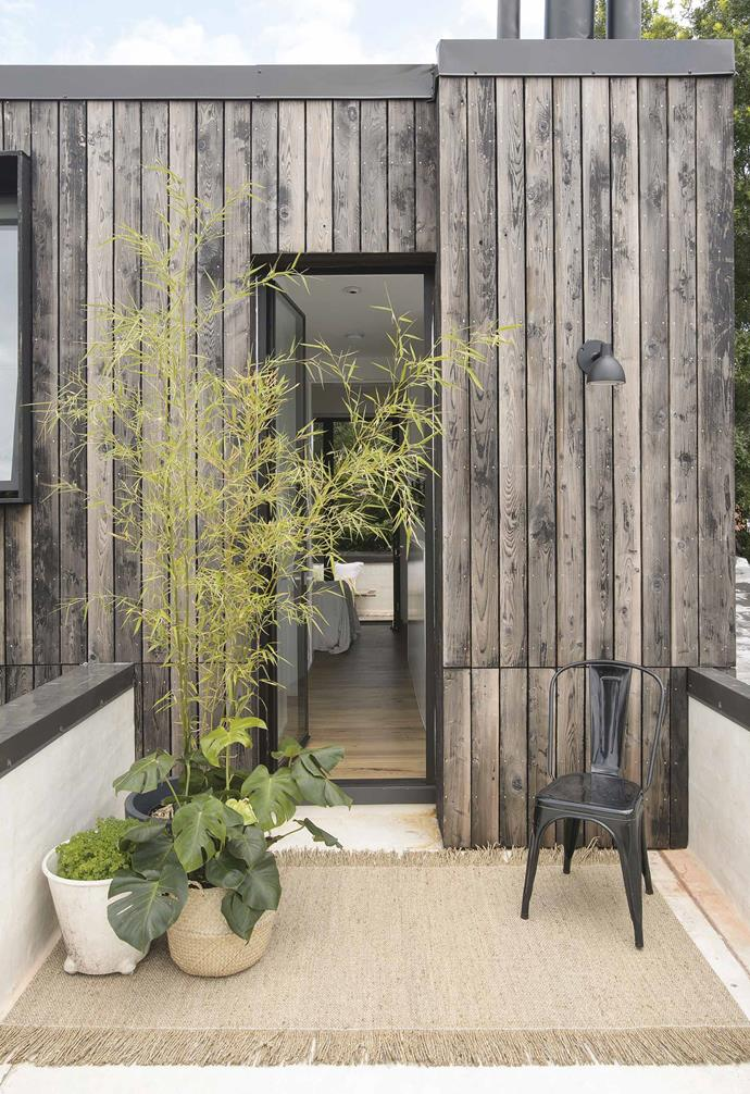 **Deck** Charred cedar weathers and ages on the top-floor terrace.