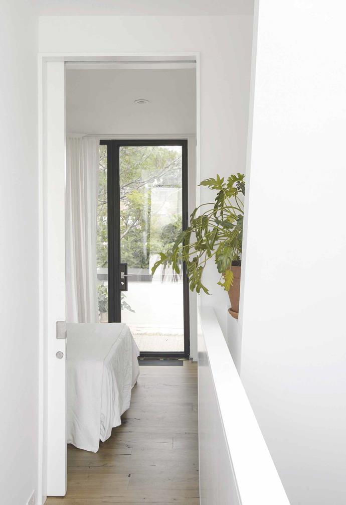 **Master bedroom** External light from the adjoining terrace makes this room feel larger than it really is.