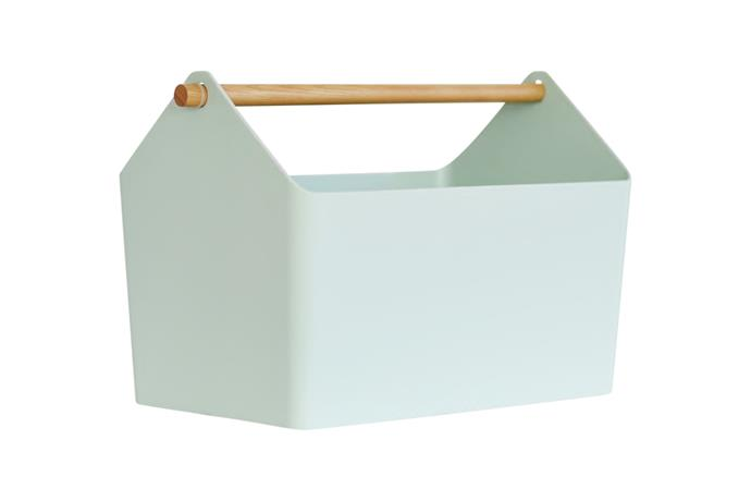 "**Pantry basket** Yamazaki 'Tosca' storage box in Mint, NZ$44, [Father Rabbit](https://fatherrabbit.com/|target=""_blank""