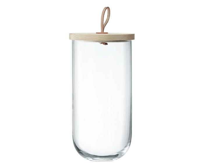 "**Jars and cannisters**  LSA 'Ivalo' glass container, $64.95/large, [Temple & Webster](https://www.templeandwebster.com.au/|target=""_blank""