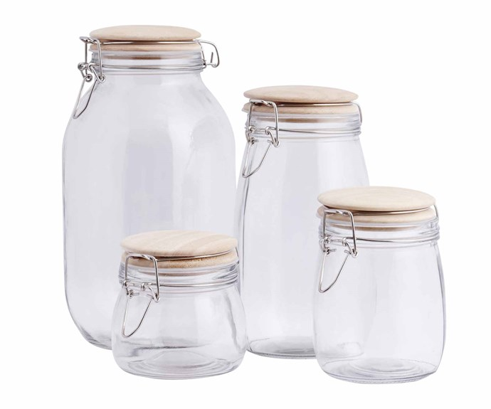 "**Jars and cannisters** Larder jars, from $12.95, [Provincial Home Living](https://www.provincialhomeliving.com.au/|target=""_blank""