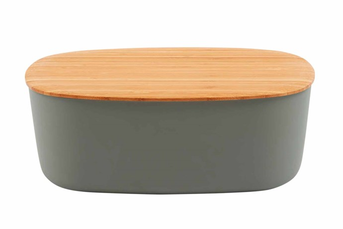 "**Containers** 'RigTig' bread box, $124, [Designstuff](https://www.designstuff.com.au/|target=""_Blank""