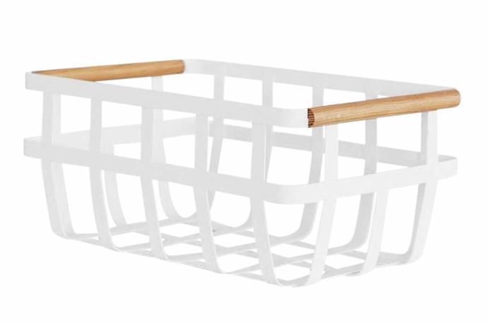 "**Pantry basket** Yamazaki 'Tosca' storage basket, $65, [Designstuff](https://www.designstuff.com.au/|target=""_Blank""|rel=""nofollow"")."