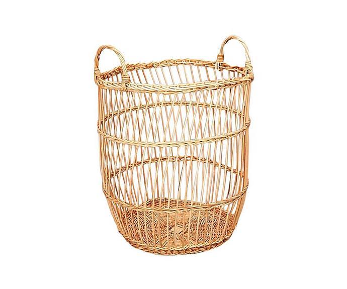 "Fine rattan stripe weave basket, $149, [Inartisan](https://www.inartisan.com/|target=""_blank""|rel=""nofollow"")"