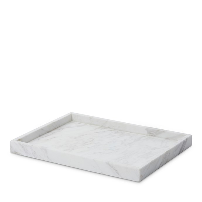 """Home Republic Eastside marble large rectangular tray, $41.99, [Adairs](https://fave.co/2VQLL2I 