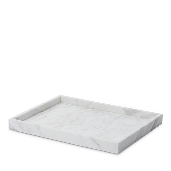 "Home Republic Eastside marble large rectangular tray, $41.99, [Adairs](https://fave.co/2VQLL2I |target=""_blank""