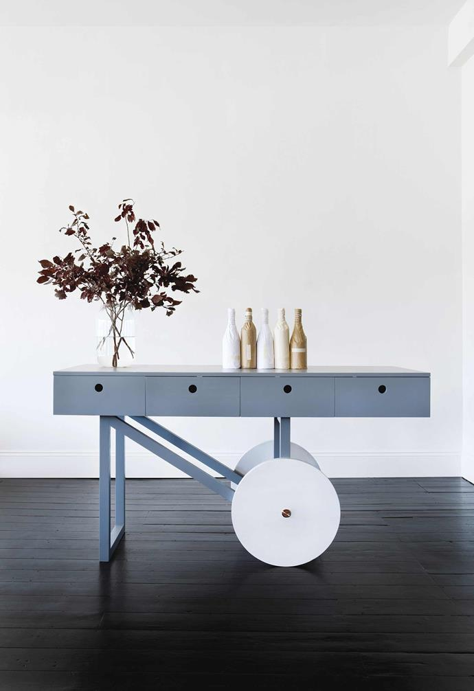 **Matt Pearson** Matt designed this console for the Enough Studio salon in Adelaide. *Photography: Pippy Mount*.