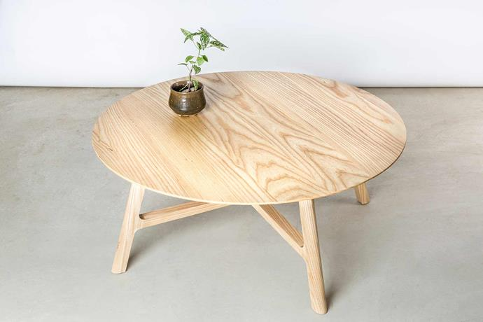**Matt Pearson** The 'Crossover' coffee table highlights Matt's soft approach to timber. *Photography: Heidi Wolff*.