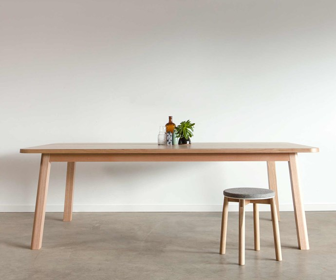 **Jason Stancombe** Jason's 'Sim' table is paired with his 'Crop' stool.
