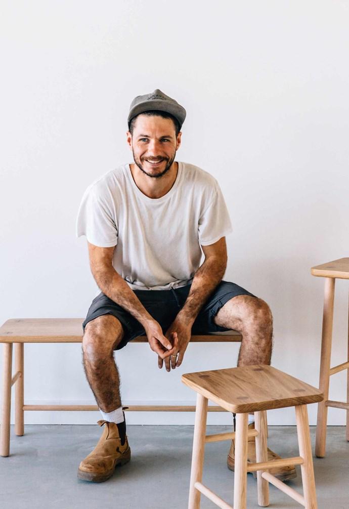 **Jeremy Lee** Jeremy Lee is the wood craftsman behind JD Lee furniture. *Photography: Lisa Sorgini*.