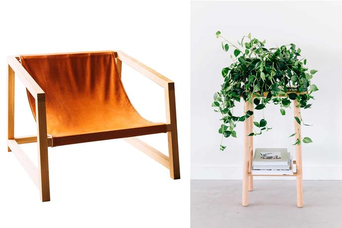 **Jeremy Lee** On the left is Jeremy's 'Lo' chair, and to the right, the 'Big Z' bar stool. *Photography Lisa Sorgini*