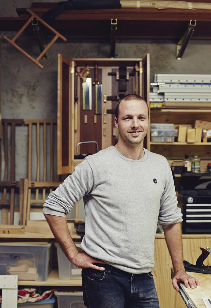 **Tim Noone** After studying furniture making and completing an apprenticeship in joinery, Tim set up his own studio. *Photography: Saskia Wilson*.
